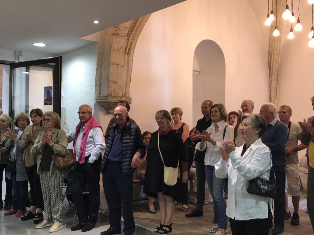 Participants au lancement de la cuvée de l'AICC